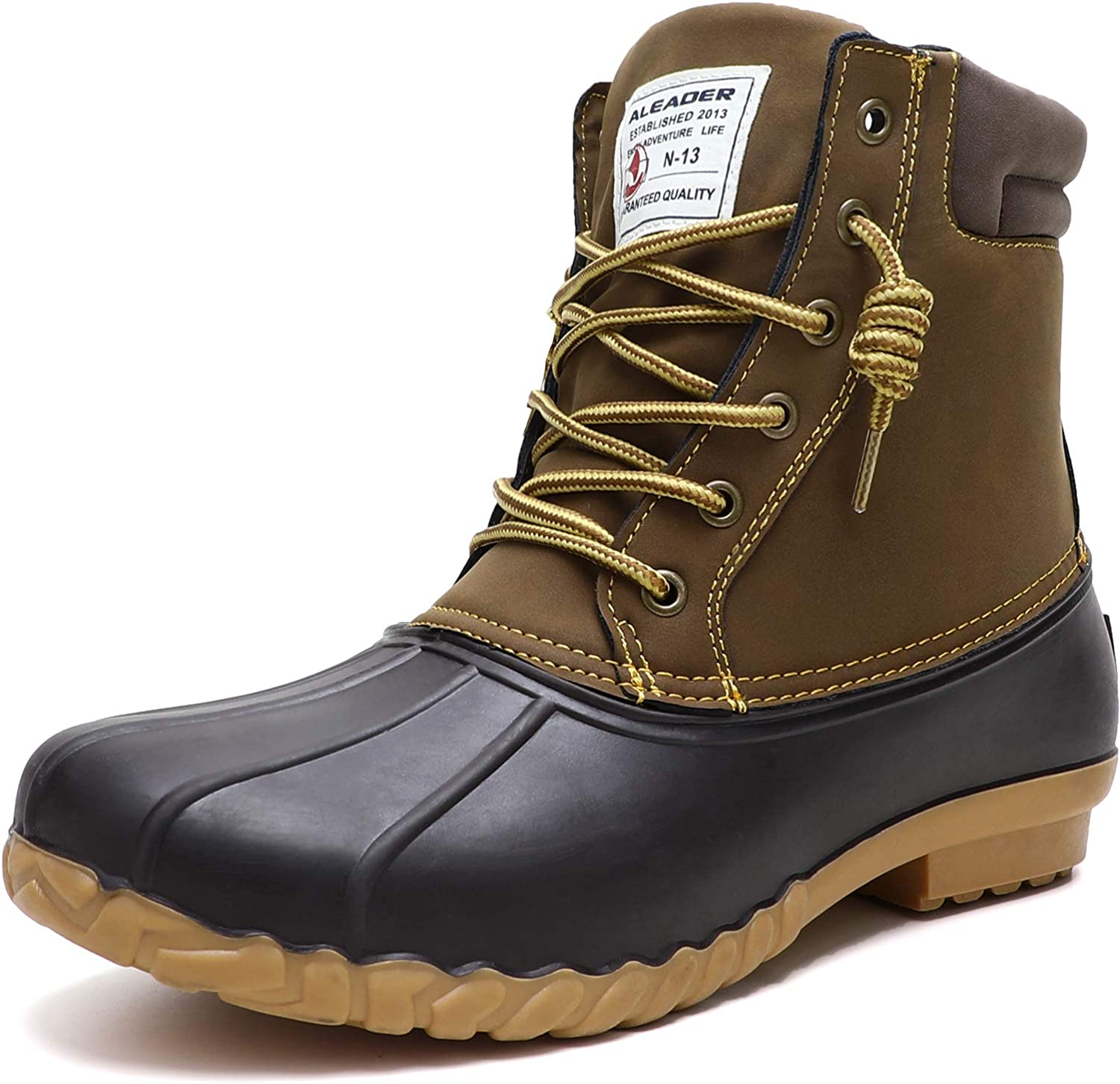 ALEADER Mens Duck Boot Now free shipping Waterproof Insulated Fort Worth Mall Fur Lined Shell