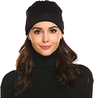 Chigant 2 Pack Unisex Men Women Hip-Hop Casual Tough Headwear Stretchy Soft Hats Comfort Beanies Hats