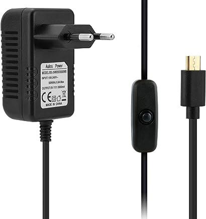 Aukru Caricabatteria 5V 3A Micro USB con interrupteur on off Alimentatore per Raspberry Pi 3 Modello B+ Plus/Pi 3 - Noir - Confronta prezzi
