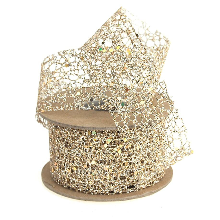 Homeford FAM0000016651609 Open Weave Glitter Ribbon, 1-1/2