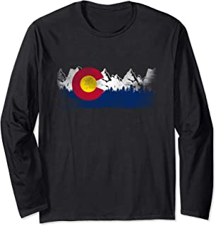 Cute Family Gift Colorado State Flag Long Sleeve T-Shirt