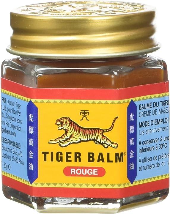 Balsamo di tigre rosso, barattolo di 30 g - unguento per reumatismi, dolori muscolari, crampi. -tiger balm 16744