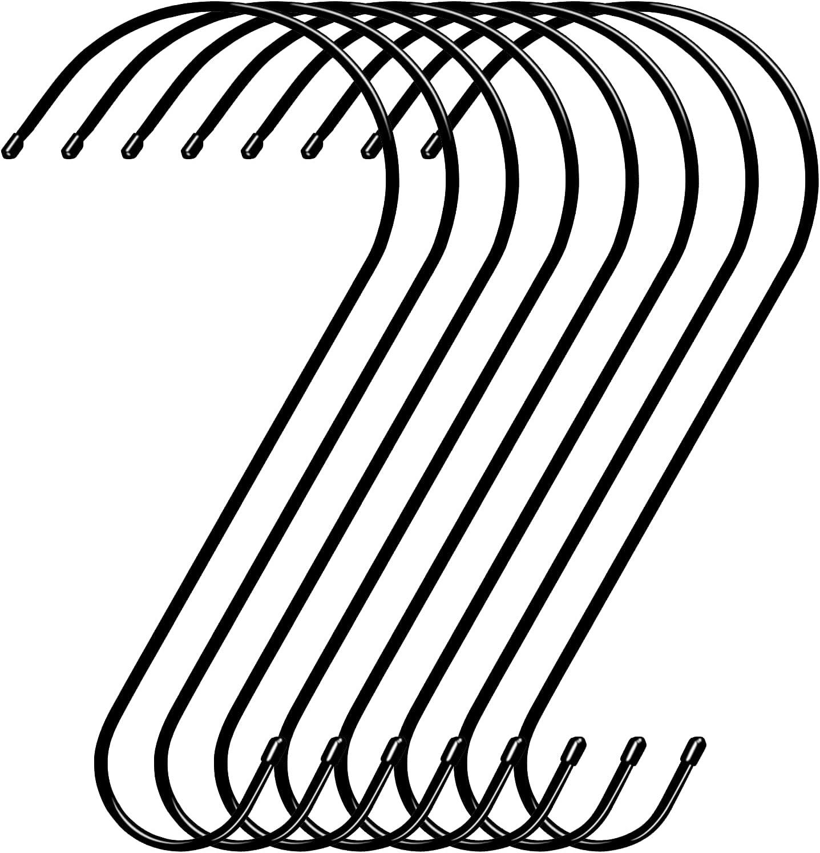 8 Pack Tree Branch Ranking TOP18 Hook 12 Black Bird Feeder Rustproo Outlet sale feature Inche