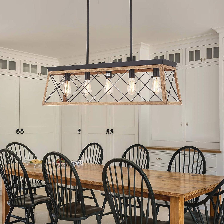 Buy Merbotin Farmhouse Kitchen Island Light, 9 Light Distressed ...