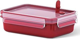 Emsa Mikrowellendose Clip & Micro 517772 | Mikrowellenventil | 0,8 L | Lunchbox | Integrierte Maßeinteilung | Made In Germ...