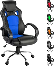 Racing Office Chair Sport Executive Computer Gaming Racer Desk Seat Work Home Deluxe PU Leather Mesh Adjustable Height Thi...