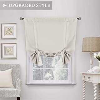 H.VERSAILTEX Thermal Insulated Blackout Tie Up Curtain, Adjustable Window Shade, Rod Pocket Curtain Panel - 42