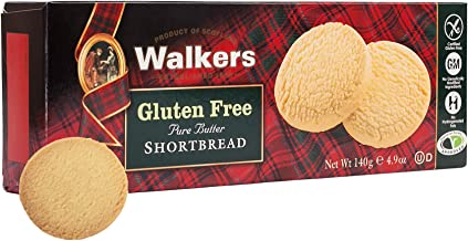 Walkers Shortbread Gluten-Free Pure Butter Shortbread Rounds, 4.9 Ounce Box (Pack of 6)