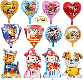 12Pcs Paw Dog Patrol Balloons Birthday Party Supplies Decorations Favors Dog Theme Decorations
