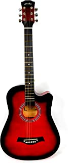 Mike Music 38 inch Acoustic Guitar with bag and strap and Extra String(38, black glossy)