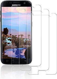 NASFUEY [3 Piezas Cristal Templado para Samsung S7, [9H Dureza] [Antihuellas Dactilares] [Sin Burbujas], Alta Sensibilidad y Definición,Protector de Pantalla para Samsung S7