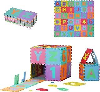HOMCOM Tapis de Sol en Mousse Tapis Puzzle interconnectables dim. 31L x 31l x 1H cm 36 pièces Grande Surface 3,24 m² Multi...