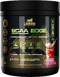LionEdge Nutrition - BCAA Edge Vegan Bioavailable Branched Chain Amino Acid Powder 2:1:1 | Wild Cherry Cola Flavor | 30 Servings | Vegan, Keto, Non-GMO | 0g Sugar, 0g Carbs, 0 Calories