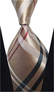 w3dayup mens Classic Tie Necktie Plaid Neck Ties For Men Stripe Neck Tie