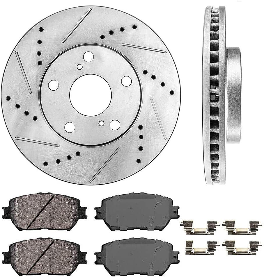 HuaZo Customized Front Max 80% OFF Drill High order Slot Pads Seda Brake Rotors Ceramic