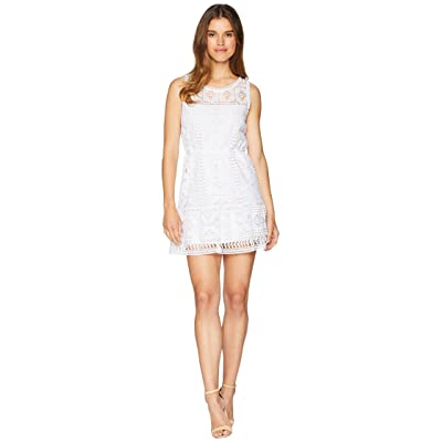 BB Dakota Sandra Lace Fit and Flare Dress (Optic White) Women