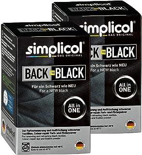 Simplicol Simplicol Farberneuerung Back-to-Black, Schwarz, 2er Pack: Farbauffrischung und -Erneuerung in der Waschmaschine, Hautfreundlich, All-in-1 DIY Färbemischung mit Textilfarbe für Stoffe