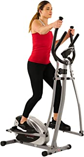 Sunny Health & Fitness SF-E905 Elliptical Machine Cross Trainer with 8 Level Resistance and Digital Monitor