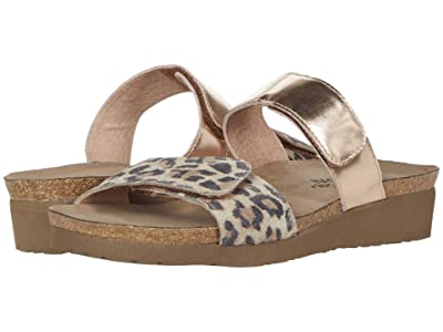 Naot Althea (Cheetah Suede/Rose Gold Leather) Women