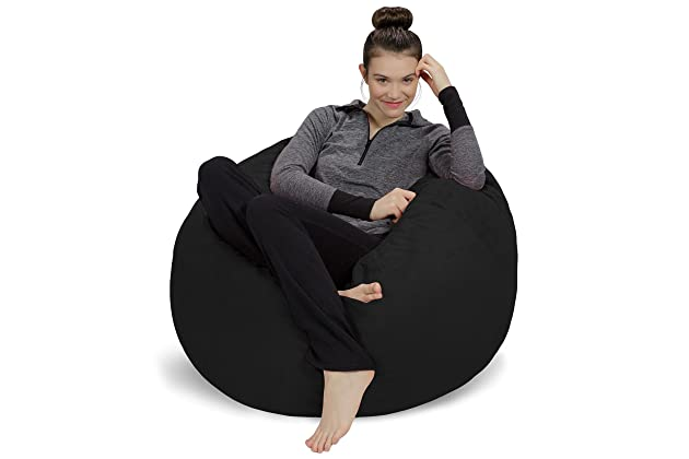 Magnificent Best Black Bean Bag Chairs For Adults Amazon Com Dailytribune Chair Design For Home Dailytribuneorg