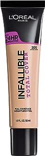 L'Oréal Paris Infallible Total Cover Foundation, Natural Beige, 1 fl. oz.