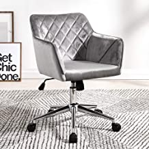 YI GAO Swivel Chair - Fabric/pu Leather Simple Home Office Leisure Lift Computer Chair, 3 Colors to Choose from @ (Color :...