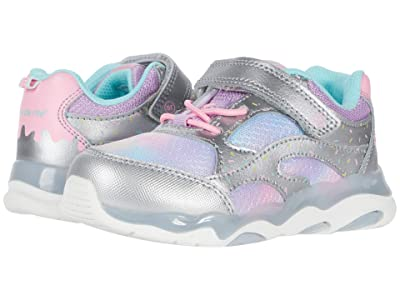 Stride Rite Lighted Swirl (Toddler) (Silver Multi) Girls Shoes
