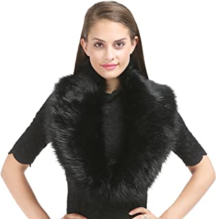 Women Winter Faux Fur Scarf Wrap Collar Shrug for Wedding Evening Party