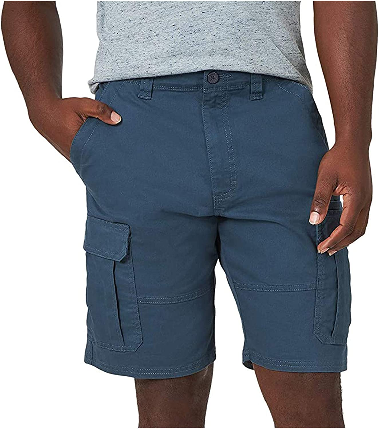 Men's Cotton Shorts Summer Ripstop Work Cargo Hiking Camping Outdoor Casual Loose Fit Shorts with 4 Pockets