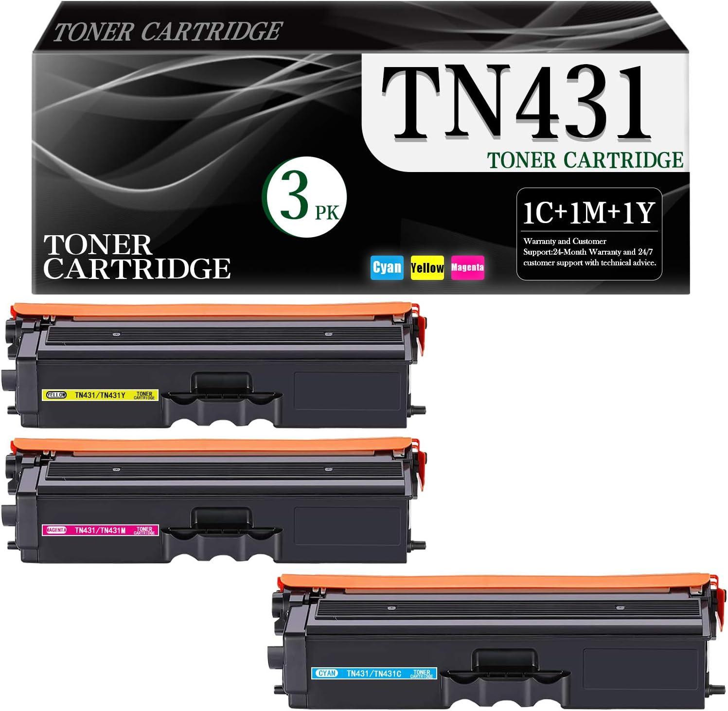 3-Pack Cyan Magenta Yellow TN431 TN431C TN431M Bombing new work Compatib TN431Y Max 50% OFF