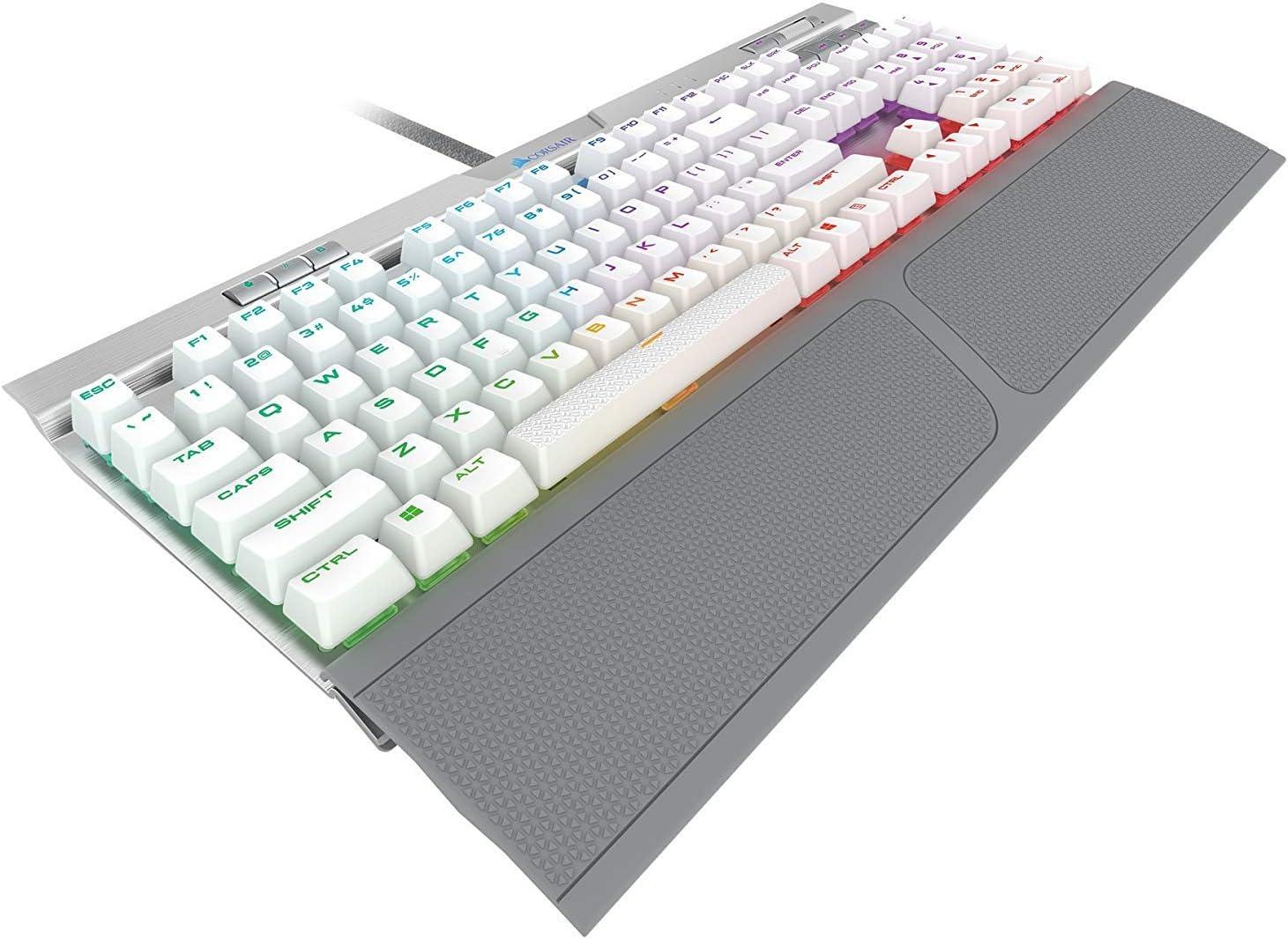 Corsair K70 RGB MK.2 SE Mechanical RAPIDFIRE Gaming Keyboard - USB Passthrough & Media Controls - PBT Double-Shot Keycaps - Cherry MX Speed - RGB LED Backlit,CH-9109114-NA