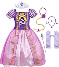 AmzBarley Princess Costume for Girls Halloween Fancy Party Cosplay Dress Up 1-10 Years
