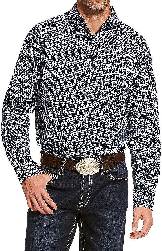 ARIAT Men's Damian Stretch Geo Print Long Sleeve Western Shirt