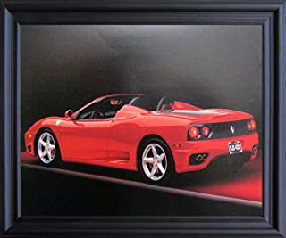 Impact Posters Gallery Red Ferrari 360 Modena Spider Sports Car Wall Black Framed Picture Art Print