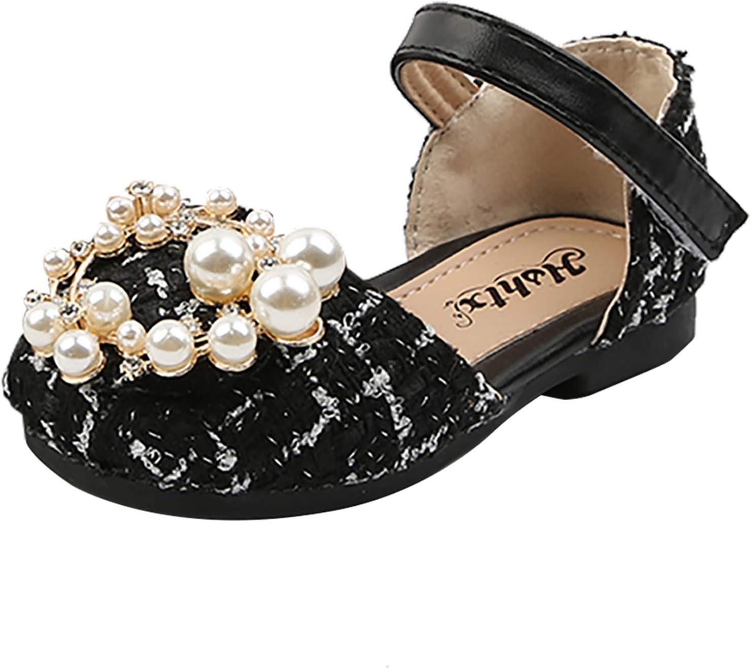 Yeslove Children Girls Fashion service Pearls Shoes Tweed Princess Overseas parallel import regular item Kids