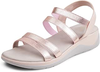 tresmode Womens Casual Soft Sole Champagn Fashion Sandals