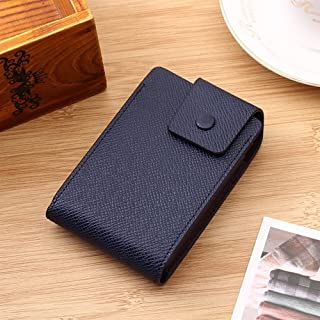 Credit Card Holder Leather Purse for Cards Case Wallet for Credit ID Bank Card Holder (Color : Navy)