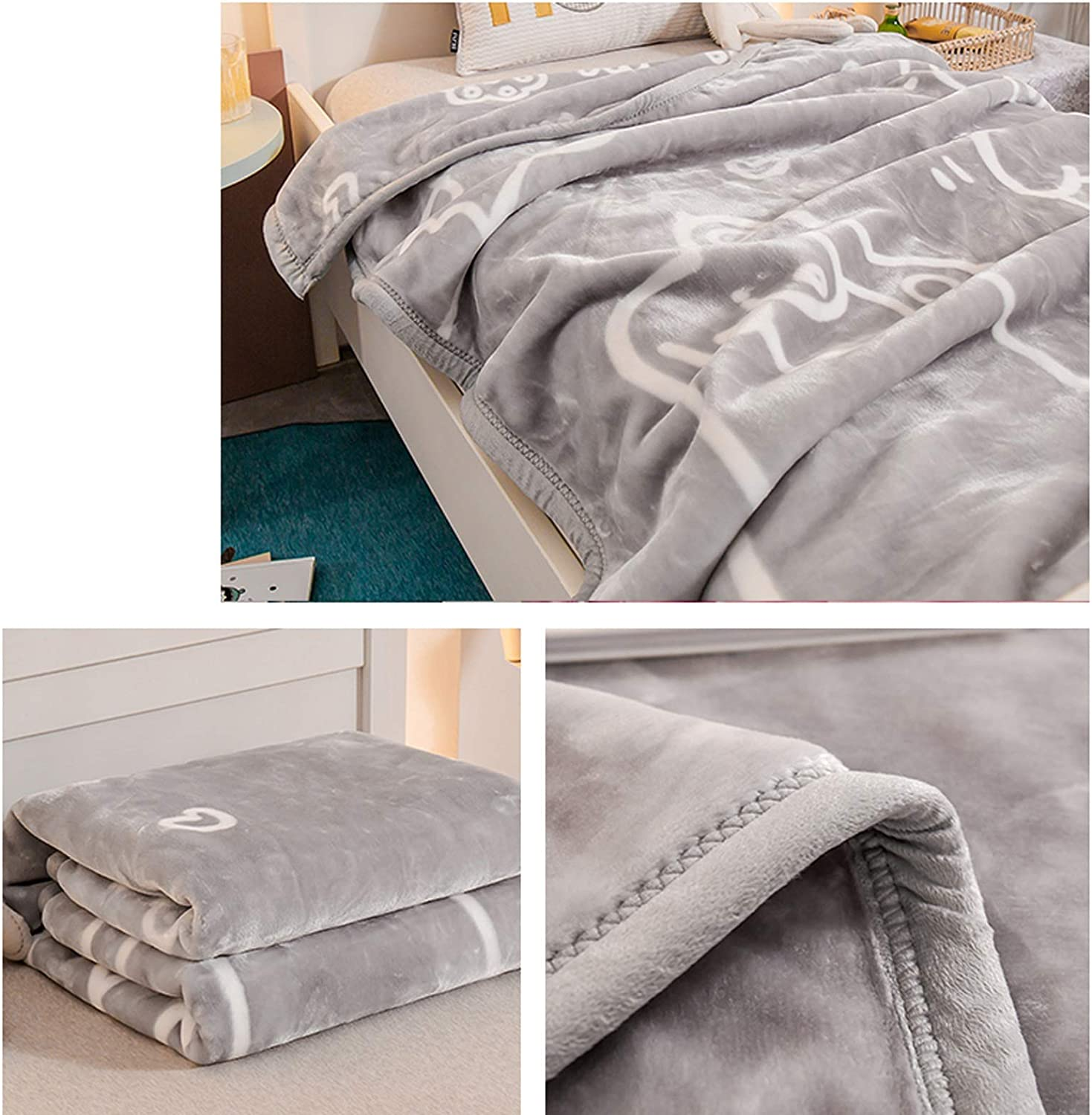 Couverture Décontracté Lit Thicken Enfants Flanelle Chaud Fluffy Nap TV Blanket Climatisation Petite Serviette Blanket Home Office 110X140CM Lostgaming (Color : D) E