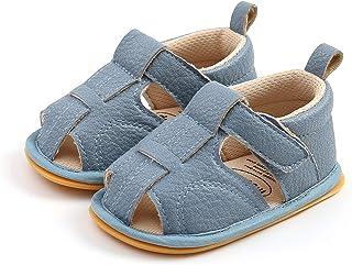 WangsCanis Sandalias de niño para bebé, unisex, informales, de paseo, zapatillas con suela de goma suave