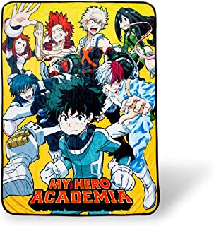 JUST FUNKY My Hero Academia Superheroes Lightweight Fleece Throw Blanket | 45 x 60 Inches