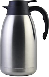 68 Oz Stainless Steel Thermal Coffee Carafe/Double Walled Vacuum Flask / 12 Hour Heat..