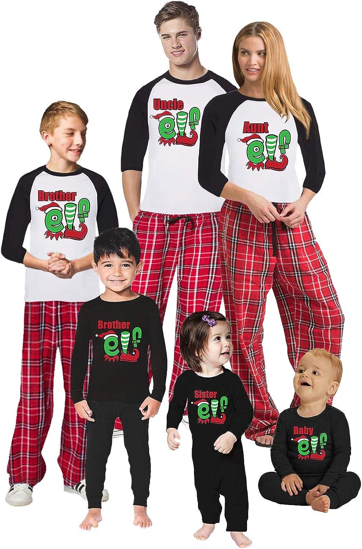 Awkward Styles Christmas Pajamas for Family Uncle Aunt Elf Matching Christmas Sleepwear