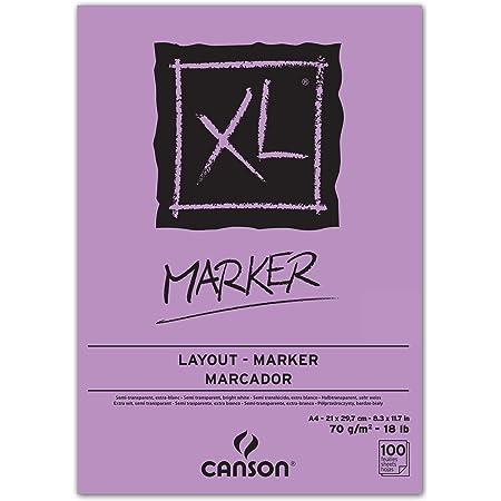 Bloc Encolado, A4, 100 Hojas, Canson XL Marker Barrera 70g