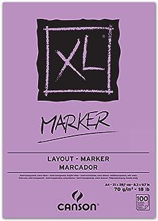 CANSON XL® Marker Bloc de papier à dessin Format A4 blanc éclatant