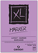 Canson 297236XL Marker Drawing Pad DIN A470g/m² 100Sheets White
