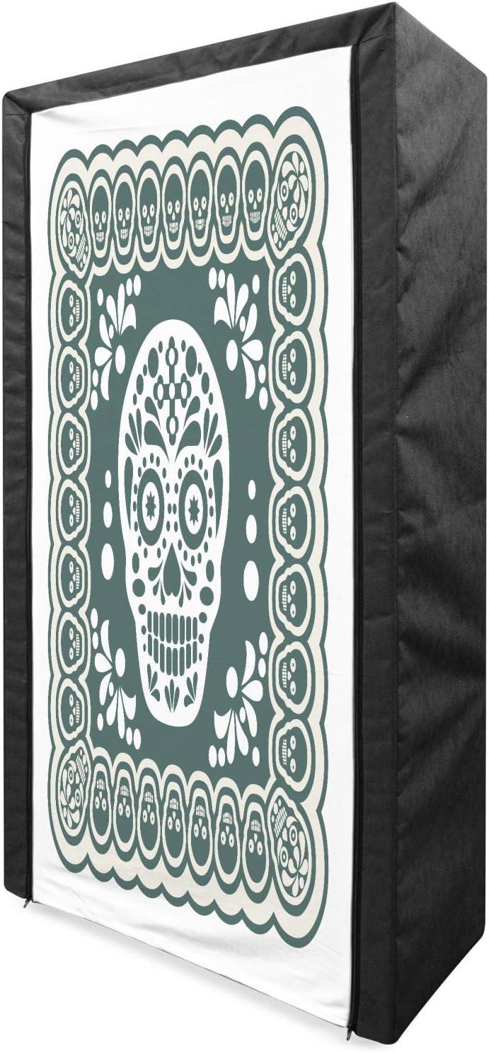 Ambesonne Sugar Max 72% OFF Skull Portable Fabric Dia Japan Maker New Mexican L de Wardrobe