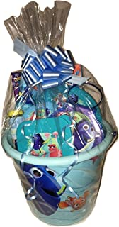 Blue Topaz Boutique Finding Dory Nemo Large Huge Happy Easter Basket Deluxe Celebration for Girls and Boys with Eggs Candy Toys Surprise Set