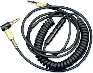 Miayaya Cable de Audio para Marshall Major MK II 2 Auriculares con micrófono iOS iPhone Andriod Samsung Huawai LG Control de volumen del micrófono Cables
