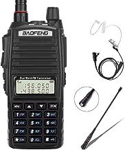 BaoFeng Radio UV-82+ 8W Handheld Dual Band VHF/UHF Two Way Ham Radio Rechargeable Long Range Walkie Talkies for Adults with Gamtaai NA-771 Telescopic Antenna &Acoustic Tube Earpiece (Black)