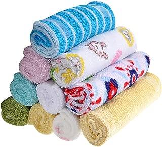 MagiDeal 8 Piece Baby Wash Wipe Sweat Towel Bibs Small Square Towel 20*20cm